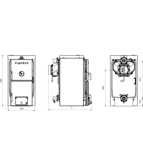 Задняя секция котла Viadrus U22 D