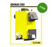 Котел твердотопливный KRONAS EKO 24 c автоматикой и вентилятором